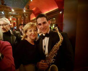 Fabian Rivero con Carmen Machi en los premios Gran Teatro
